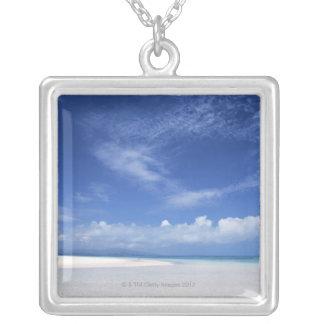青空および海2 シルバープレートネックレス