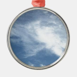 青空および白い雲 メタルオーナメント