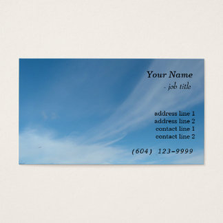 青空および白い雲 名刺