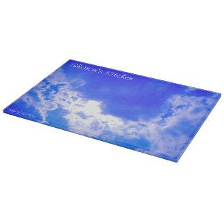 青空および雲-まな板 カッティングボード