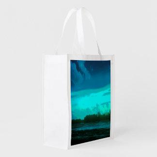 青空が付いている色の景色の写真 エコバッグ