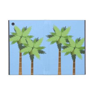 青空が付いている高い熱帯島のヤシの木 iPad MINI ケース