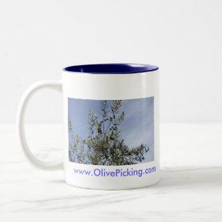 青空に対するオリーブ ツートーンマグカップ