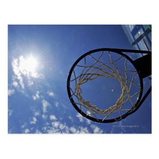 青空に対するバスケットボールたがそして日曜日、 ポストカード