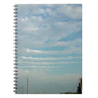 青空のさざ波の雲 ノートブック