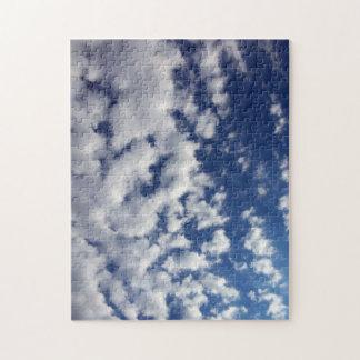 青空のふくらんでいる雲 ジグソーパズル