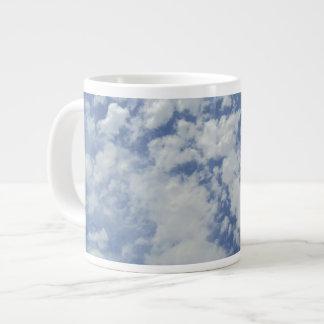 青空のジャンボマグの雲 ジャンボコーヒーマグカップ