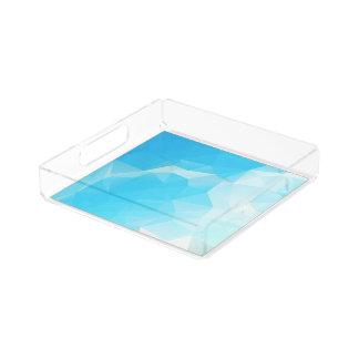青空の抽象芸術の正方形のアクリルの皿 アクリルトレー