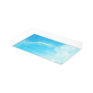 青空の抽象芸術の長方形のアクリルの皿 アクリルトレー