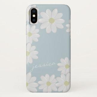 青空の春のデイジーのカスタム iPhone X ケース