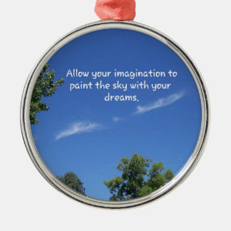 青空の木は感動的な引用文を越えます メタルオーナメント