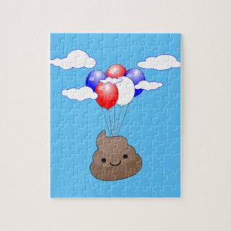 青空の気球とのPoo Emojiの飛行 ジグソーパズル