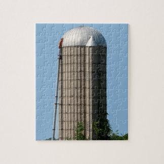 青空の田園農場のサイロ ジグソーパズル