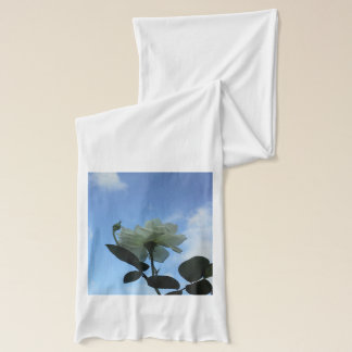 青空の白いバラ スカーフ