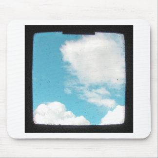 青空の白い雲 マウスパッド