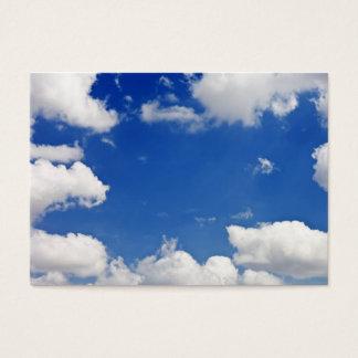 青空の白は天国のテンプレートを曇らせます チャビ―名刺