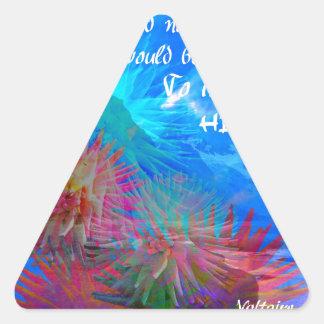 青空の神そしてVoltaire 三角形シール