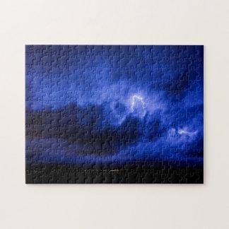 青空の稲妻のパズル ジグソーパズル