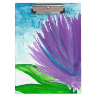青空の紫色の花 クリップボード