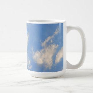 青空の背景 コーヒーマグカップ
