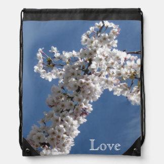 青空愛の白い十字 ナップサック