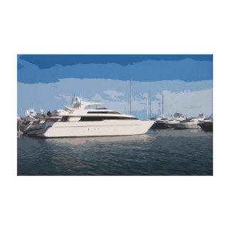 青空日のキャンバスの贅沢なヨット キャンバスプリント
