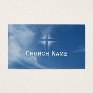青空神聖な十字の軽い教会名刺 名刺