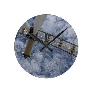 青空 ラウンド壁時計