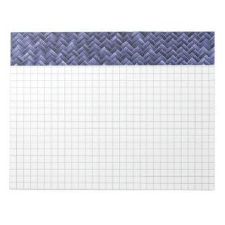 青篭織模様 ノートパッド