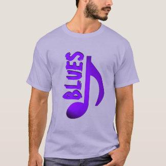 青紫色の青い音楽ノート Tシャツ