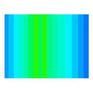 青緑のはっきりしたな幸せなデザインのおもしろいスペクトル ポストカード