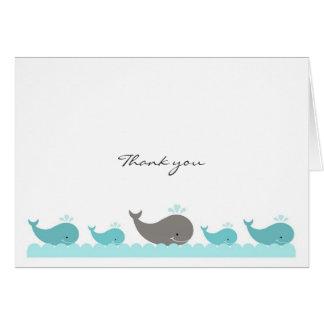 青緑のコククジラはノート感謝していしています カード