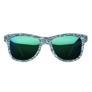 青緑のチータの抽象芸術パターン サングラス