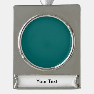 青緑のテンプレート シルバープレートバナーオーナメント