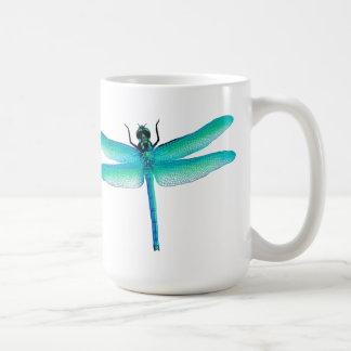 青緑のトンボのマグ コーヒーマグカップ