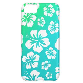 青緑のハイビスカス iPhone5Cケース