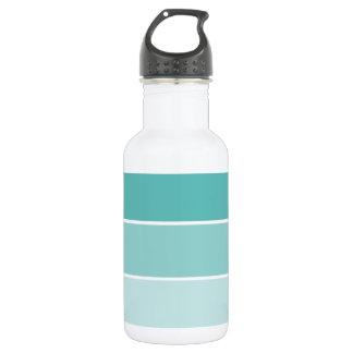 青緑のペンキの破片 ウォーターボトル