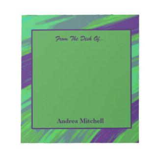青緑のモダンな棒の抽象芸術 ノートパッド