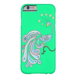 青緑のレトロのカラフルなファンタジーの孔雀の芸術 BARELY THERE iPhone 6 ケース