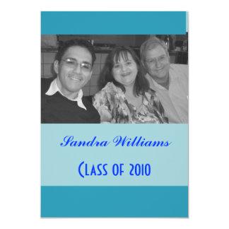 青緑の卒業 カード
