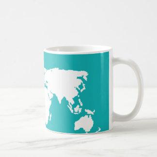 青緑の地図 コーヒーマグカップ