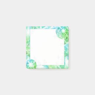 青緑の宝石用原石のコンパスのラインストーンのきらきら光るな一見 ポストイット