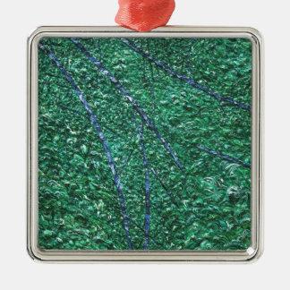 青緑の抽象デザインの要素 メタルオーナメント