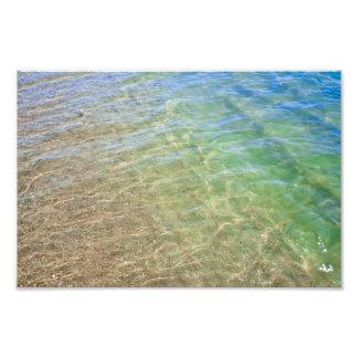 青緑の抽象芸術水写真 フォトプリント