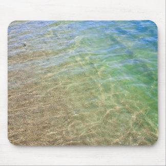 青緑の抽象芸術水写真 マウスパッド