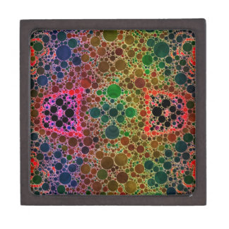 青緑の抽象芸術 ギフトボックス