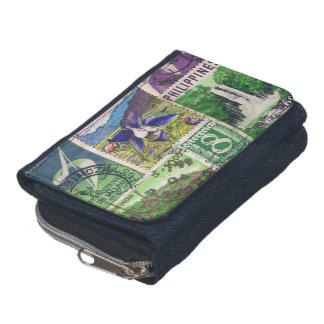 青緑の景色の財布2の切手の財布