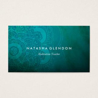 青緑の曼荼羅の禅の名刺 名刺