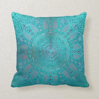 青緑の曼荼羅 クッション