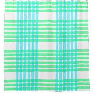 青緑の水はパターンタイルのシャワー・カーテンを並べます シャワーカーテン